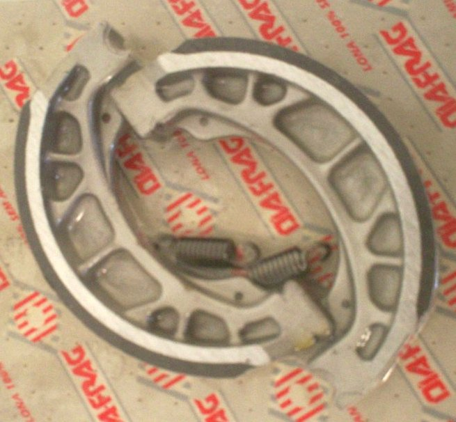 Brake shoe set STD Front for 1986 CT110 also fits ...