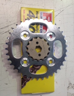 Chain and sprockets set suit new CUB110