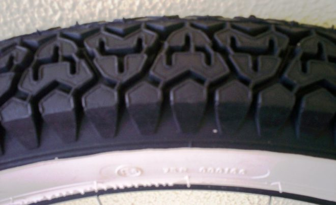 Tyre - 275X17 White Wall Tyre