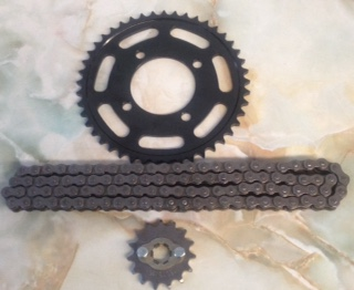 Chain and sprocket set 15 front 45 rear - super strong heavy duty chain and sprocket set!