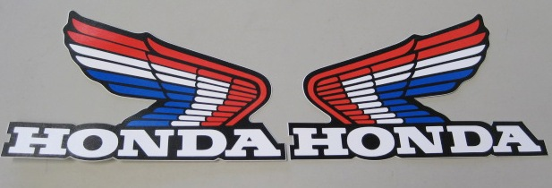 STICKER - Honda Wing blue/white/red