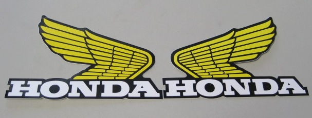 STICKER - Honda yellow wing small